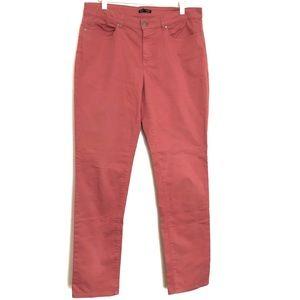 Eileen Fisher Peach Colored Denim Size 12